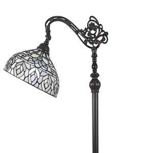 Tiffany Style Peacock Design Floor Reading Lamp
