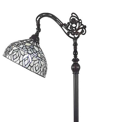 Tiffany Style Peacock Design Floor Reading Lamp