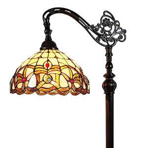 62-inch Tiffany-Style Victorian Reading Floor Lamp