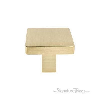 Plain Bronze Square Knob