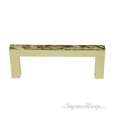 Textured Bronze Square Cabinet Pull