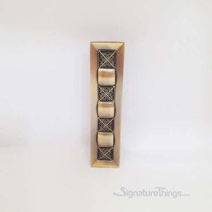 Decorative Brass Block Kitchen Cabinet Pulls - Antique Brass Drawer Pulls