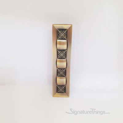 Decorative Brass Block Kitchen Cabinet Pulls - Antique Brass Drawer Pulls