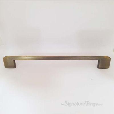 128MM Antique Brass Slim Scroll Drawer Pulls