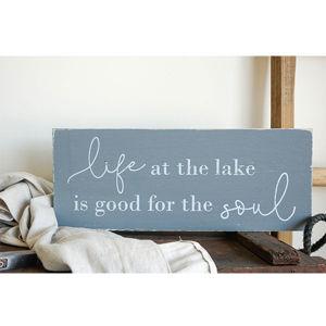 LIFE AT THE LAKE | 7X18 WOOD SIGN