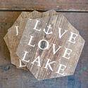 LIVE LOVE LAKE | COASTER SET