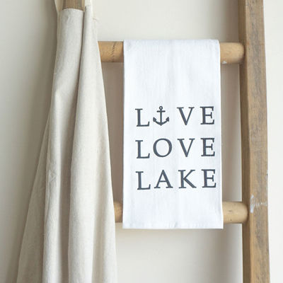 LIVE LOVE LAKE | COTTON TEA TOWEL