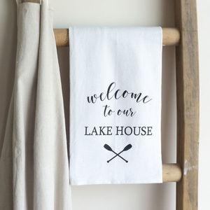 WELCOME TO THE LAKE | COTTON TEA TOWEL