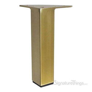 "10-1/2"" Polished Brass Square Furniture Leg"