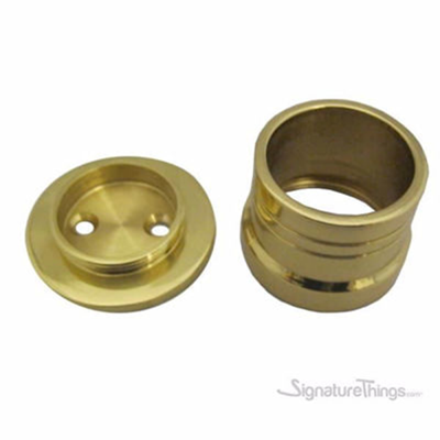Royal Brass Two Piece Shower Rod Support Flange
