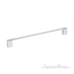 Long Cabinet Pull w/Hooks - Bright Chrome
