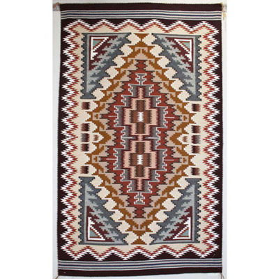 SignatureThings.com Brass Hardware Burntwater Navajo Rug RB