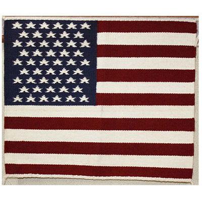 SignatureThings.com Brass Hardware Navajo Pictorial Flag Rug JB