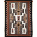 SignatureThings.com Brass Hardware Storm Pattern Navajo Rug CD