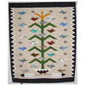 SignatureThings.com Brass Hardware Tree of Life Navajo Rug LB