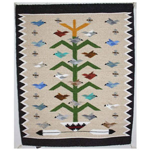 SignatureThings.com Brass Hardware Tree of Life Navajo Rug LB