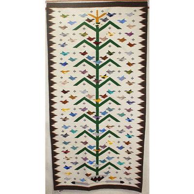 SignatureThings.com Brass Hardware Tree of Life Navajo Rug RUNNER