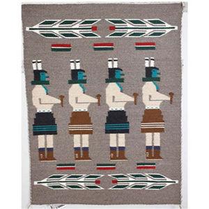 SignatureThings.com Brass Hardware Yeibechei Navajo Rug DG