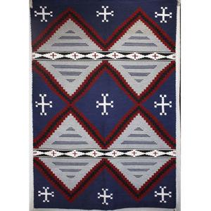 SignatureThings.com Brass Hardware Moki Navajo Rug BJ