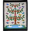 SignatureThings.com Brass Hardware NAVAJO RUG BIRDS IN TREE