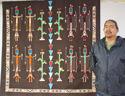 Navajo sandpainting rug 3b