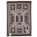 SignatureThings.com Brass Hardware Raised Outline Storm Pattern Navajo Rug AB