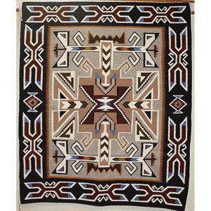 SignatureThings.com Brass Hardware Teec Nos Pos Navajo Rug NB