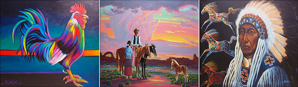 Acrylic Oil Paintings, watercolor, and pencil sketches from many of the most noted artists on the Navajo Indian Reservation