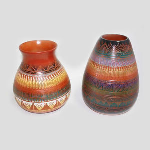 ETCHED POTTERY 120 Navajo hand painted etchware pottery