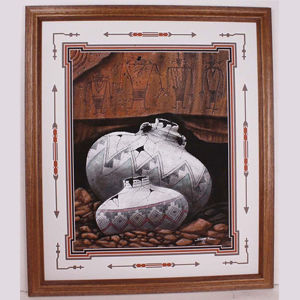 Navajo Sand Painting by Navajo artist Bilson Kee #2