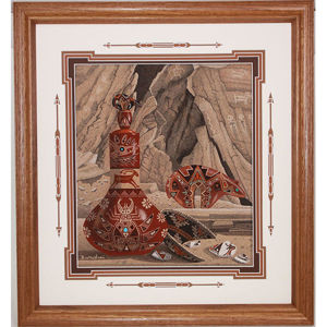 Navajo Sand Painting Eugene Joe 56