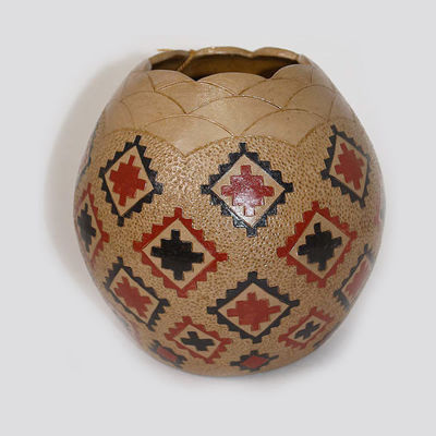 Navajo Pitch Pottery Lorraine Williams #825