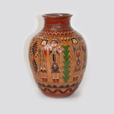 Navajo Pottery Ken and Irene White 675