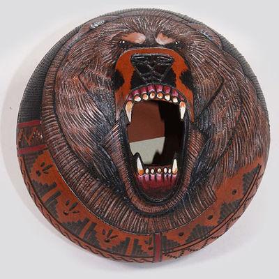 NC Navajo etched bear pot