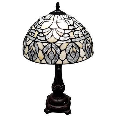 SignatureThings.com Brass Hardware Tiffany Style AM276TL12B Peacock Design Table Lamp