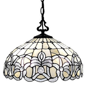 Tiffany Style White Hanging Lamp 16 Inches Wide