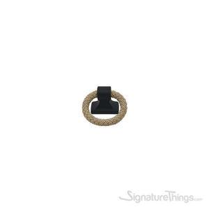 POLO Rope Pendant Handle 32mm Matte Black & Beige