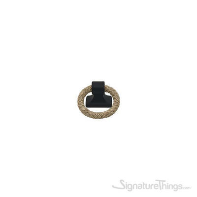 POLO Rope Pendant Handle 32mm Matte Black & Beige