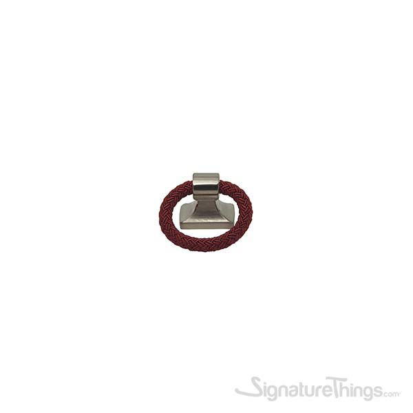 Satin Nickel & Bordeaux [+$1.00]