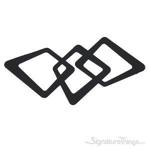 Linking Squares Handle 160mm Matte Black