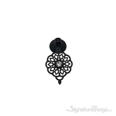OTTOMAN Pendant Pull with Crystal Matte Black