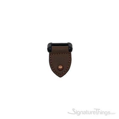 DACIA Leather Pendant Pull 32 mm Matte Black & Dark Brown