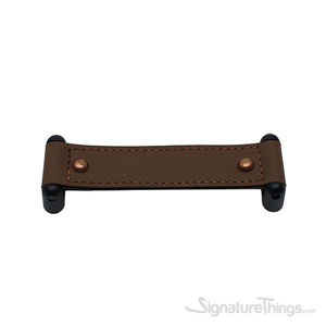 DACIA Leather Handle 160mm Matte Black & Dark Brown
