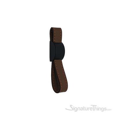 LOUIS Leather Pull Matte Black & Dark Brown