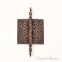 Victorian Design Bearing Butt Hinge with Steeple Tip - Venetian Bronze