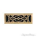 Victorian Register 4X14 W/Damper - Antique Brass
