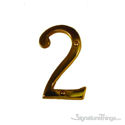 "Traditional 4"" Raised Numeral 2"