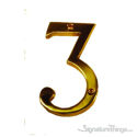 "Traditional 4"" Raised Numeral 3"