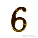 "Traditional 4"" Raised Numeral 6 or 9"