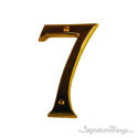 "Traditional 4"" Raised Numeral 7"